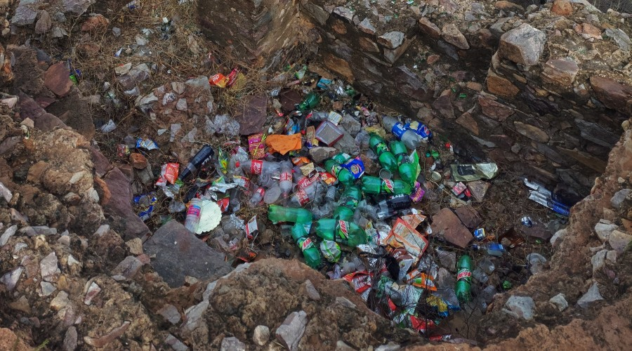 The rise in the amount of waste